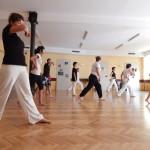 Trening capoeira w starej remizie